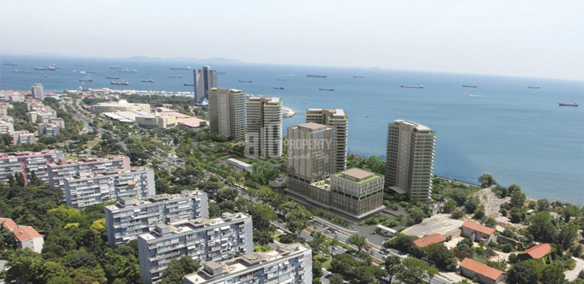 High Quality apartments for sale with horizon sea view in Istanbul Bakirkoy
