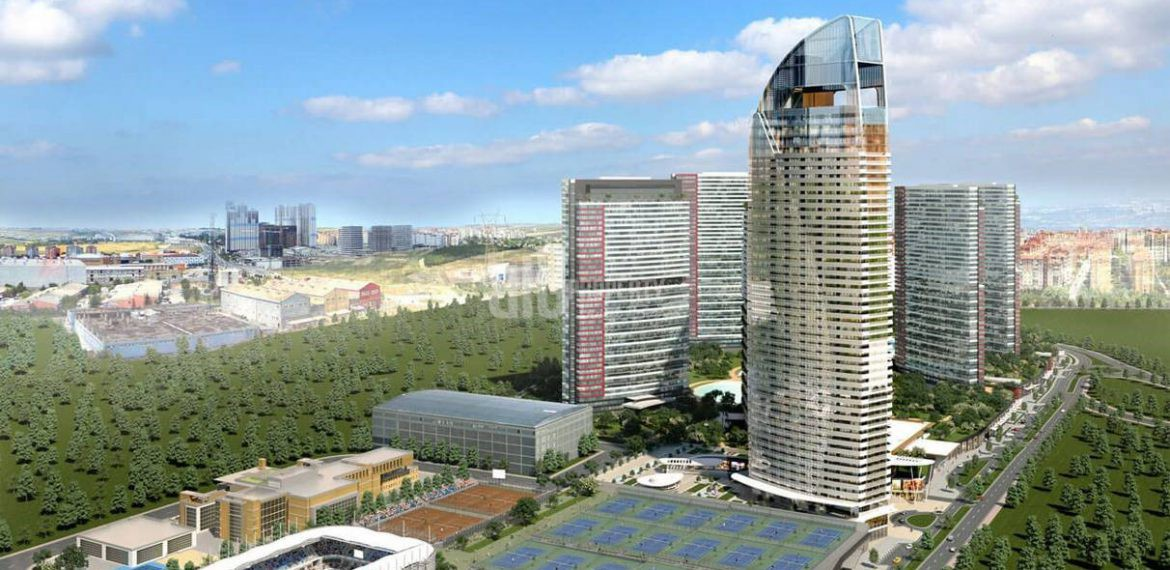 invesments commercial property has got shopping mall and lake in for sale in Istanbul